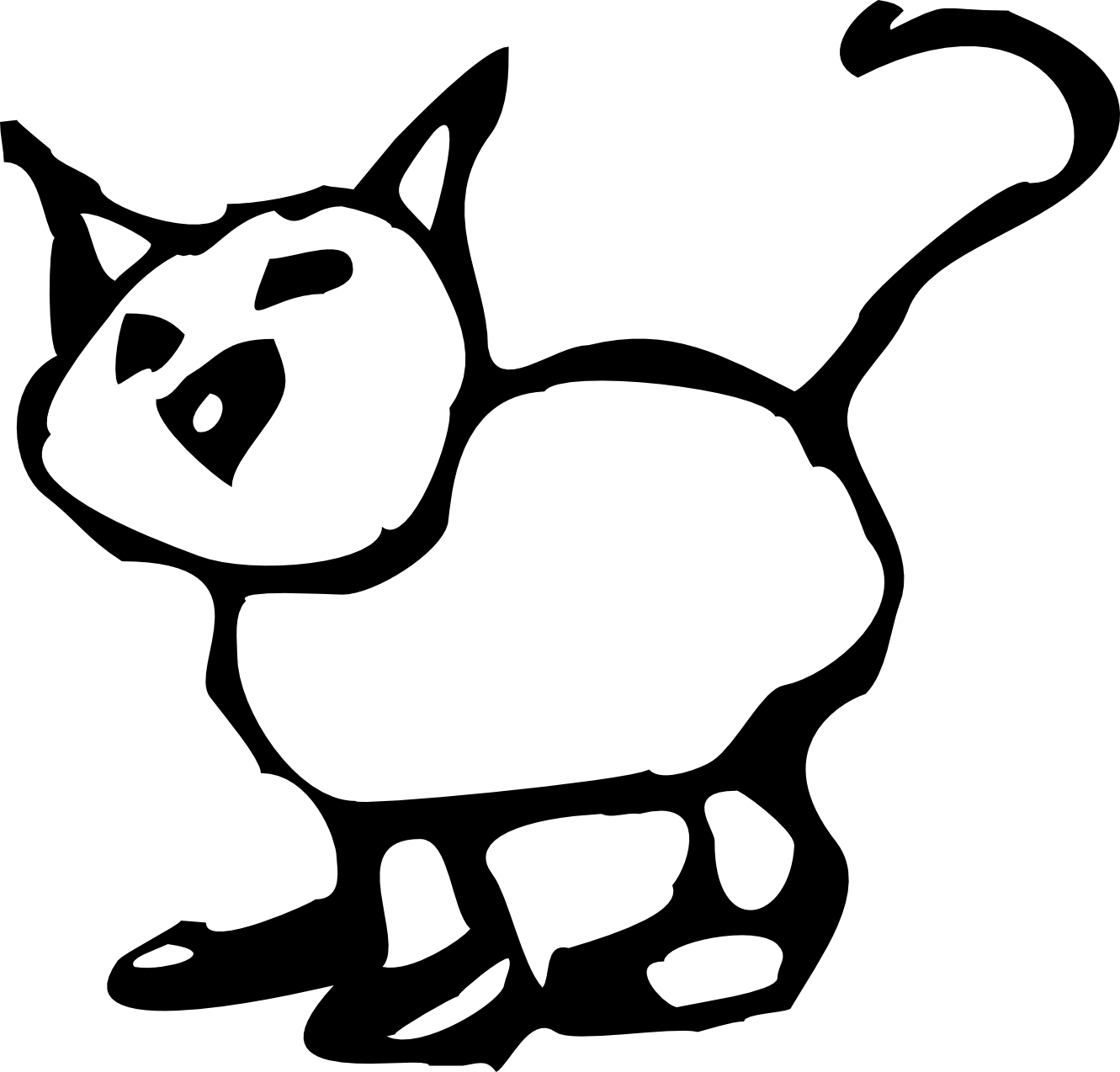 Cartoon Black Cats