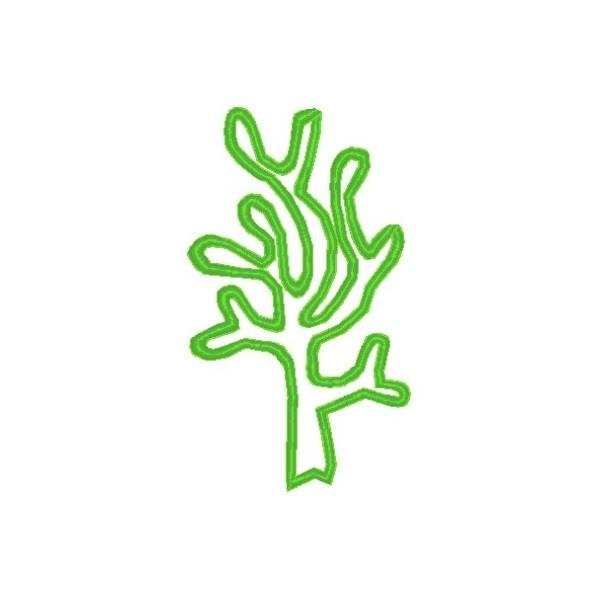 seaweed outline seaweed mega hoop design