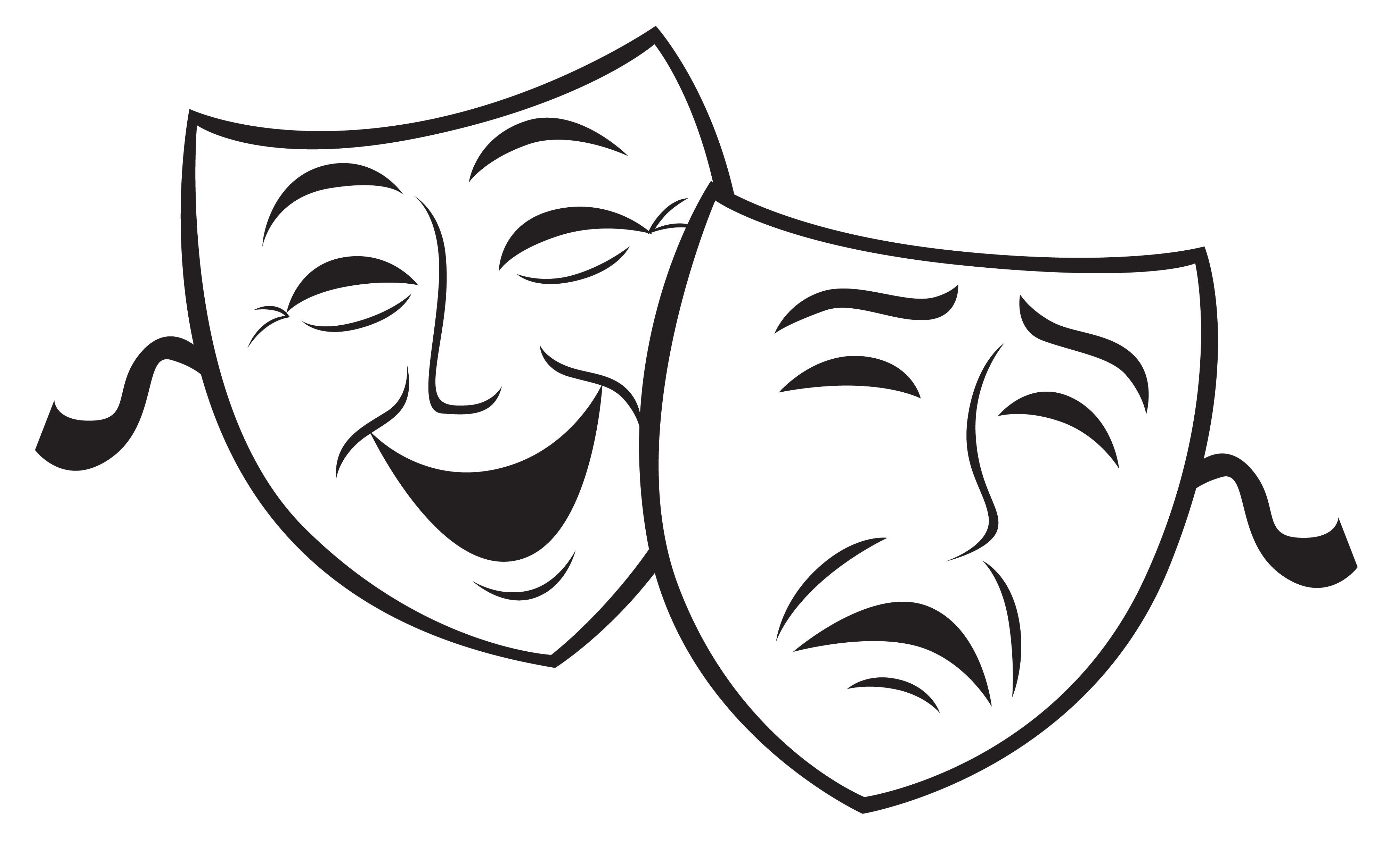 Drama Mask Template