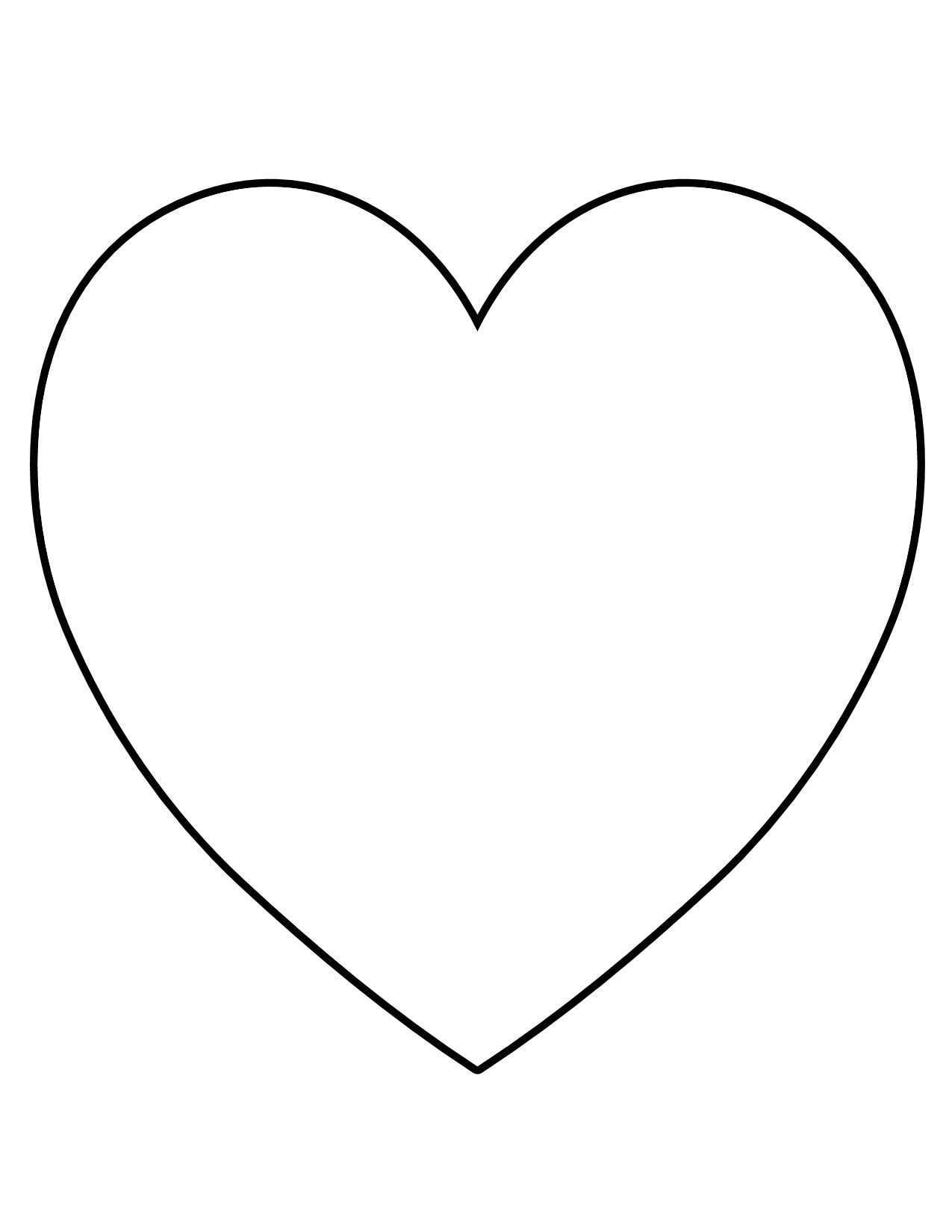 Blank Heart Shape