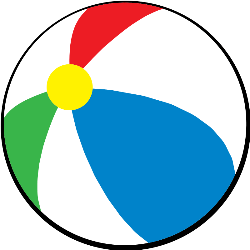 beach ball coloring page clipart best