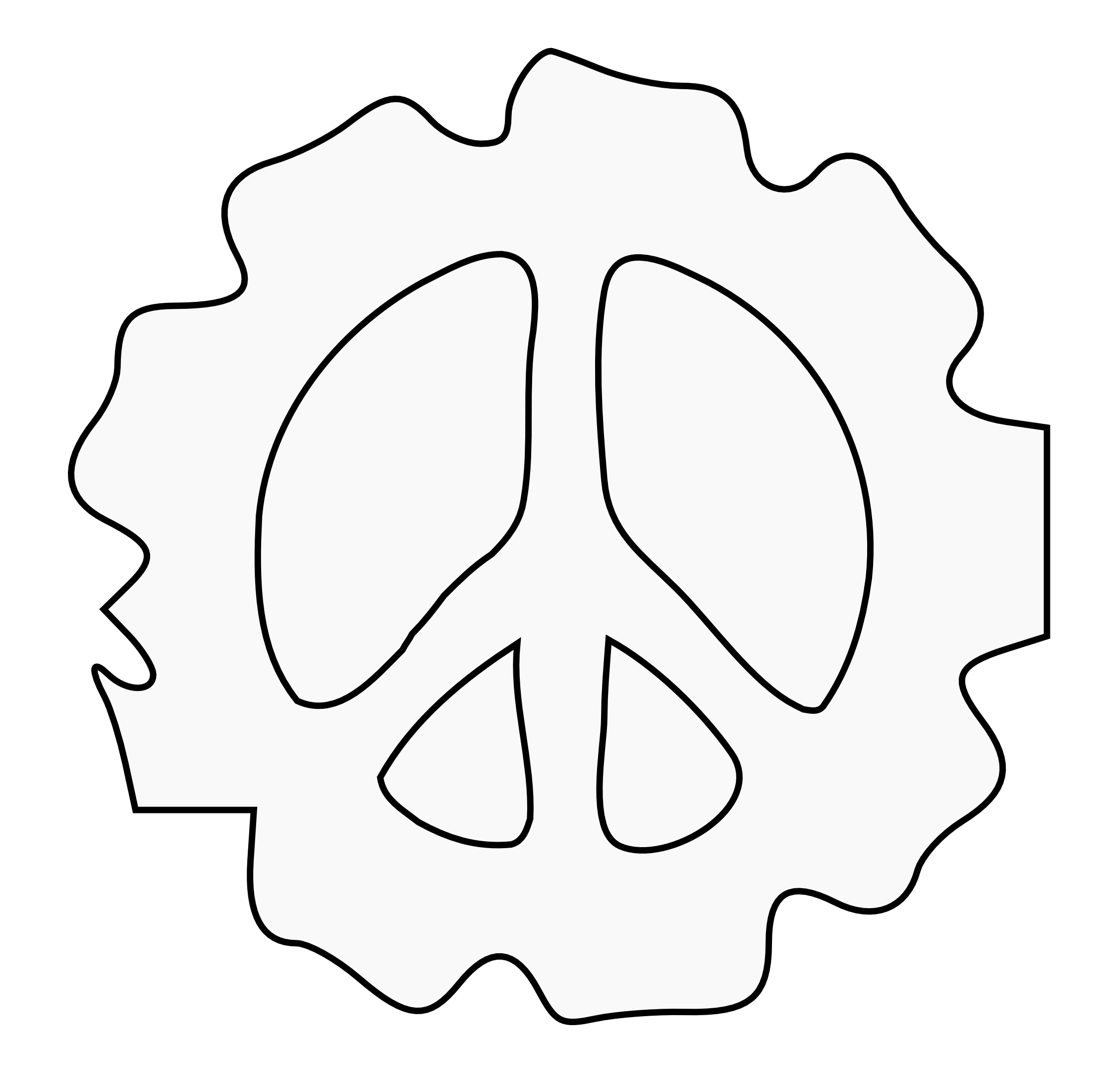 Peace Symbol Peace Sign Flower 8 Peacesymbol Svg