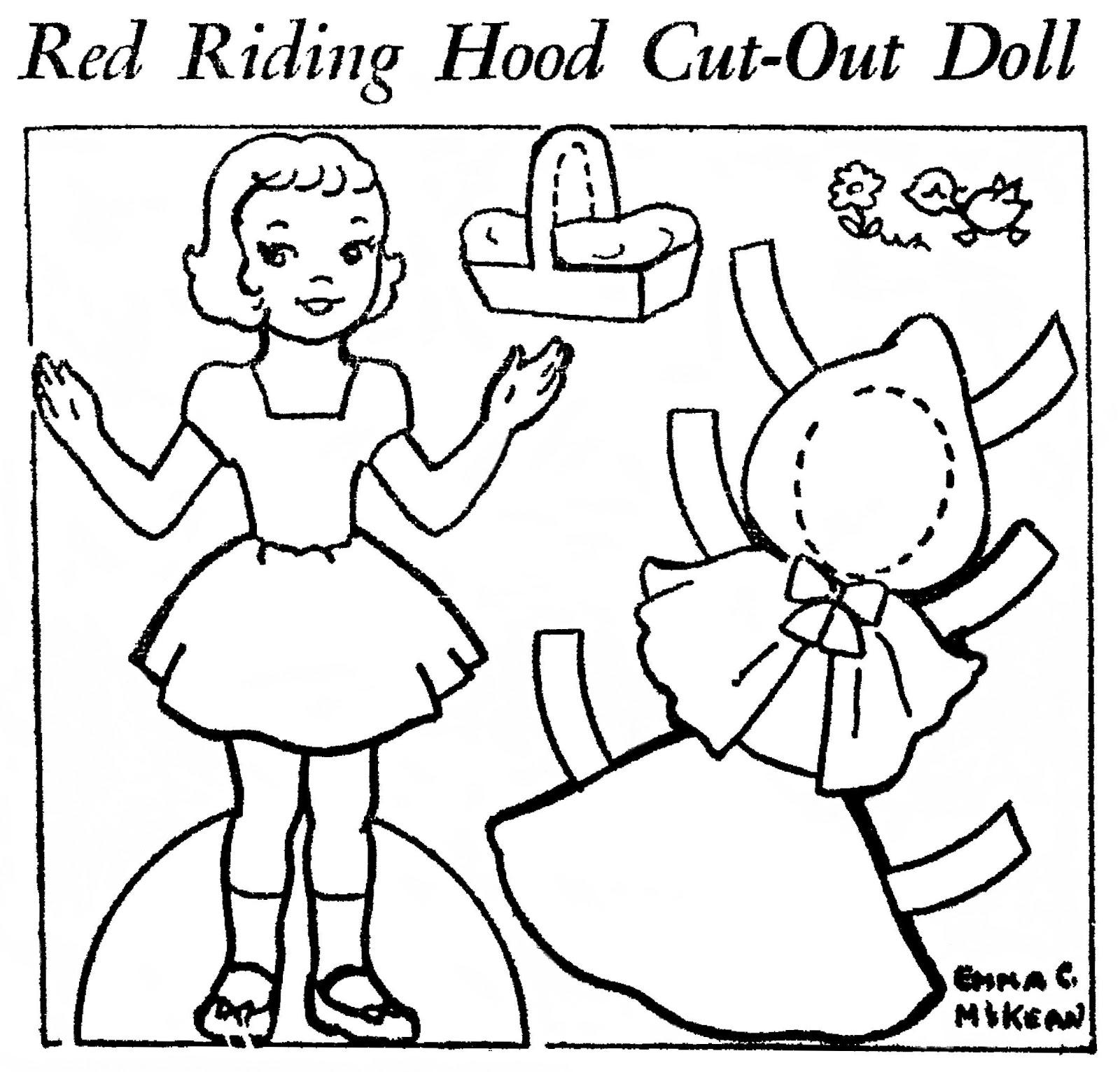 Little Red Riding Hood Template