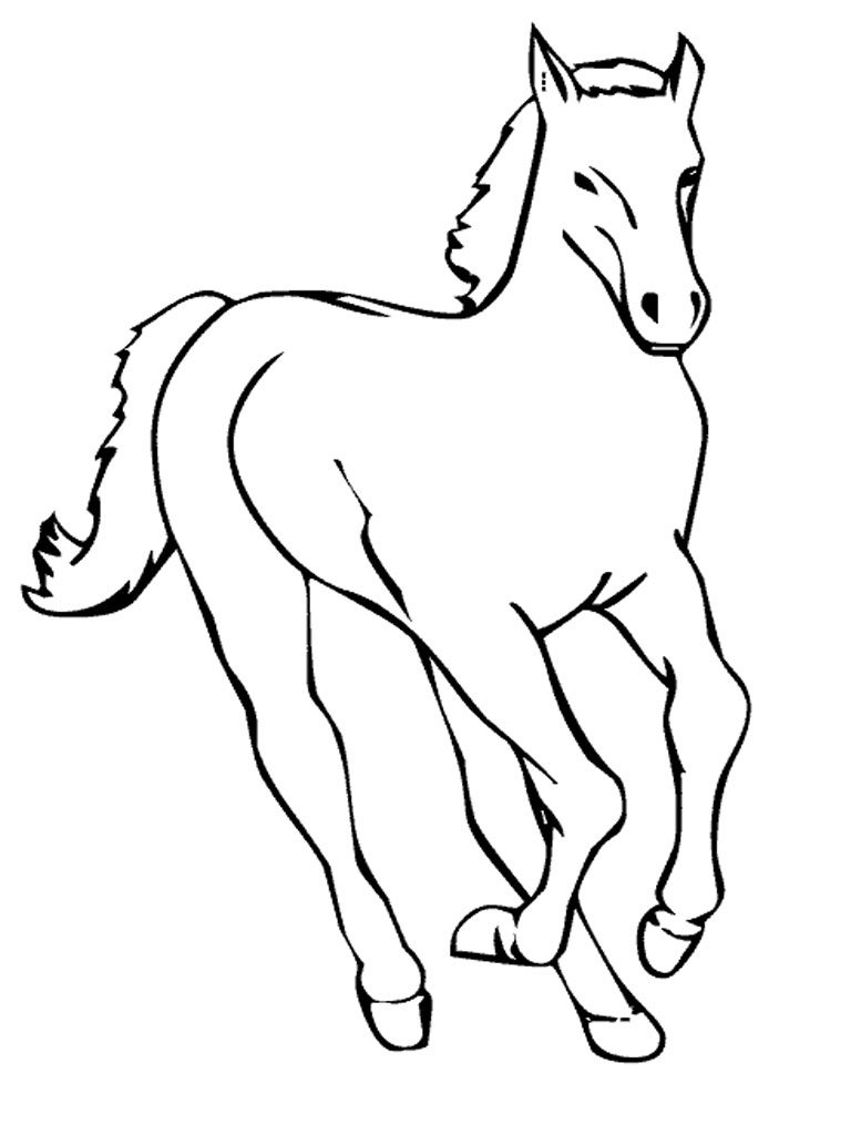 horse head coloring page clipart best