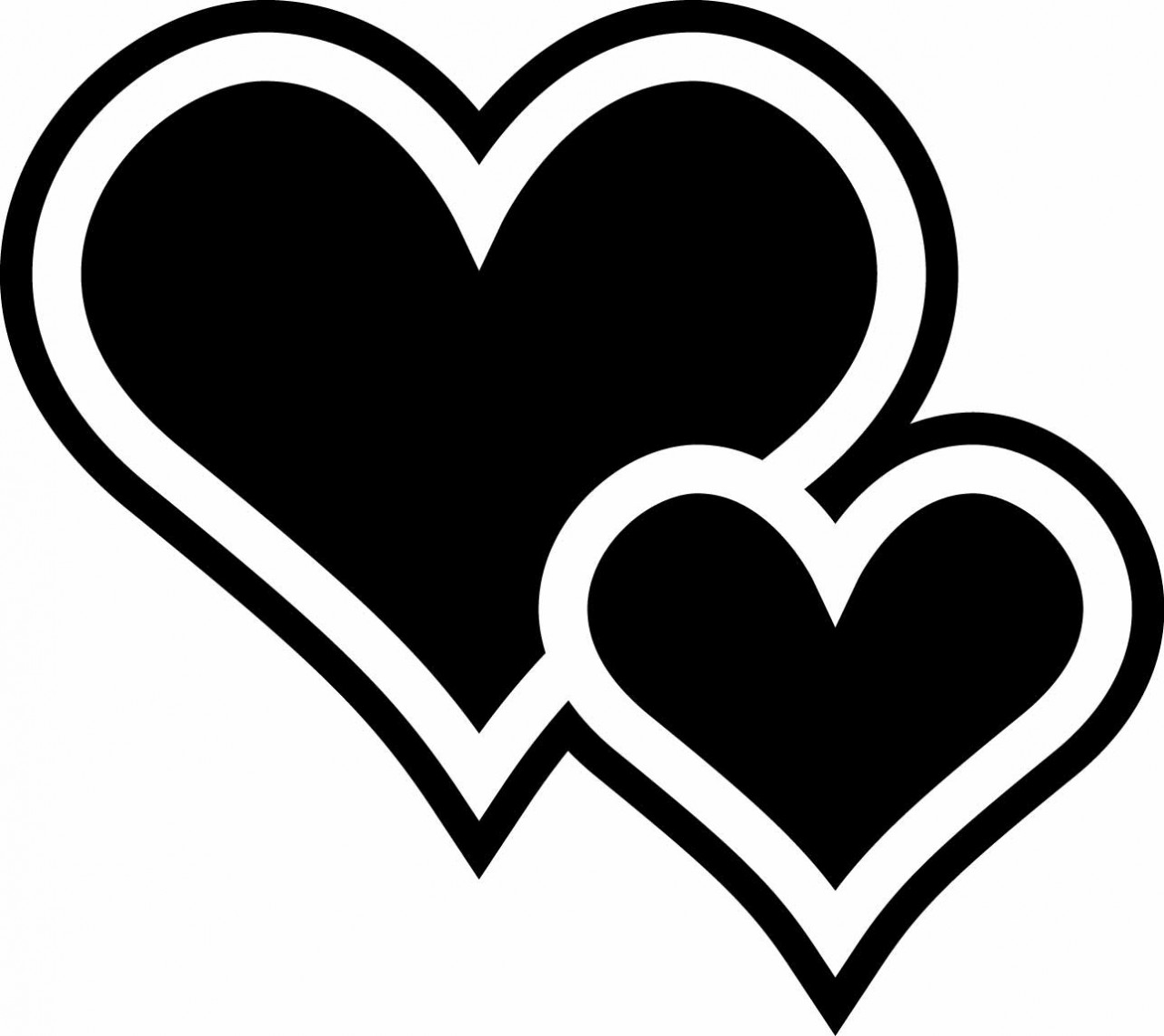 Two Hearts Chalkboard - Decallage - ClipArt Best - ClipArt ... (1280 x 1139 Pixel)