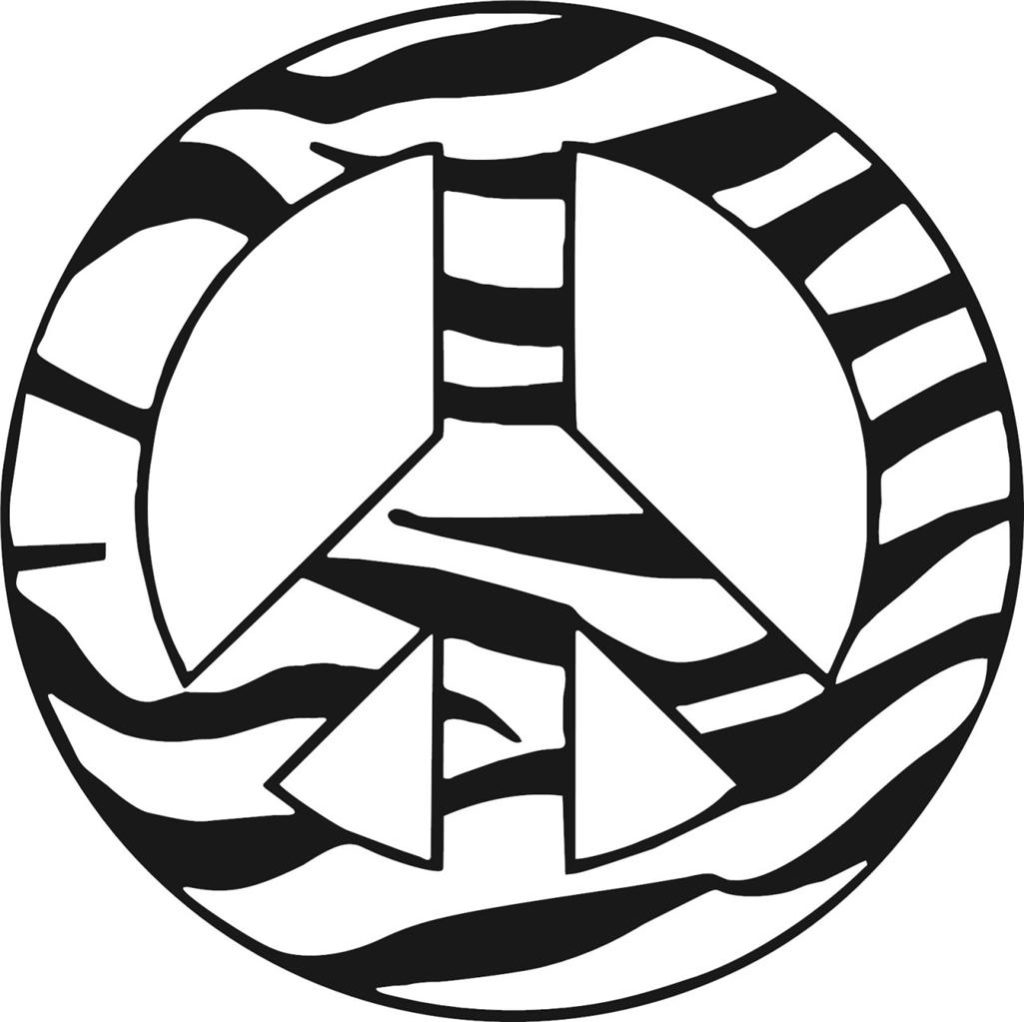 Peace And Zebra Colouring Pages Unique Peace Sign Coloring