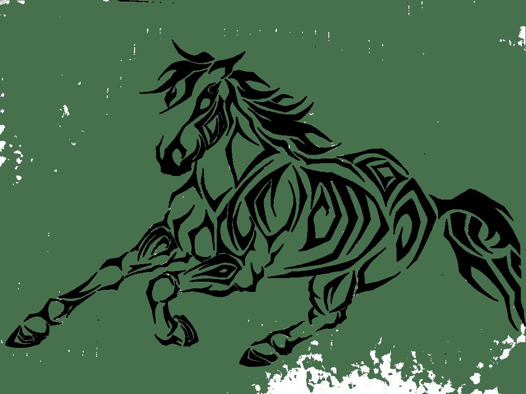 Horse Tribal Art