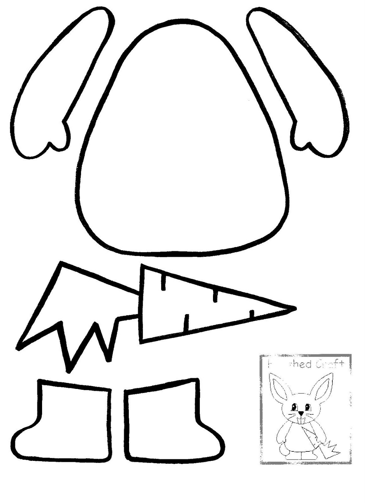 Free Printable Footprint Wholesale Bunny Body And