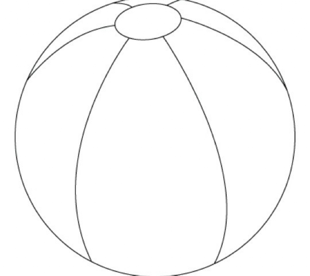 Beach Ball Colouring Pictures