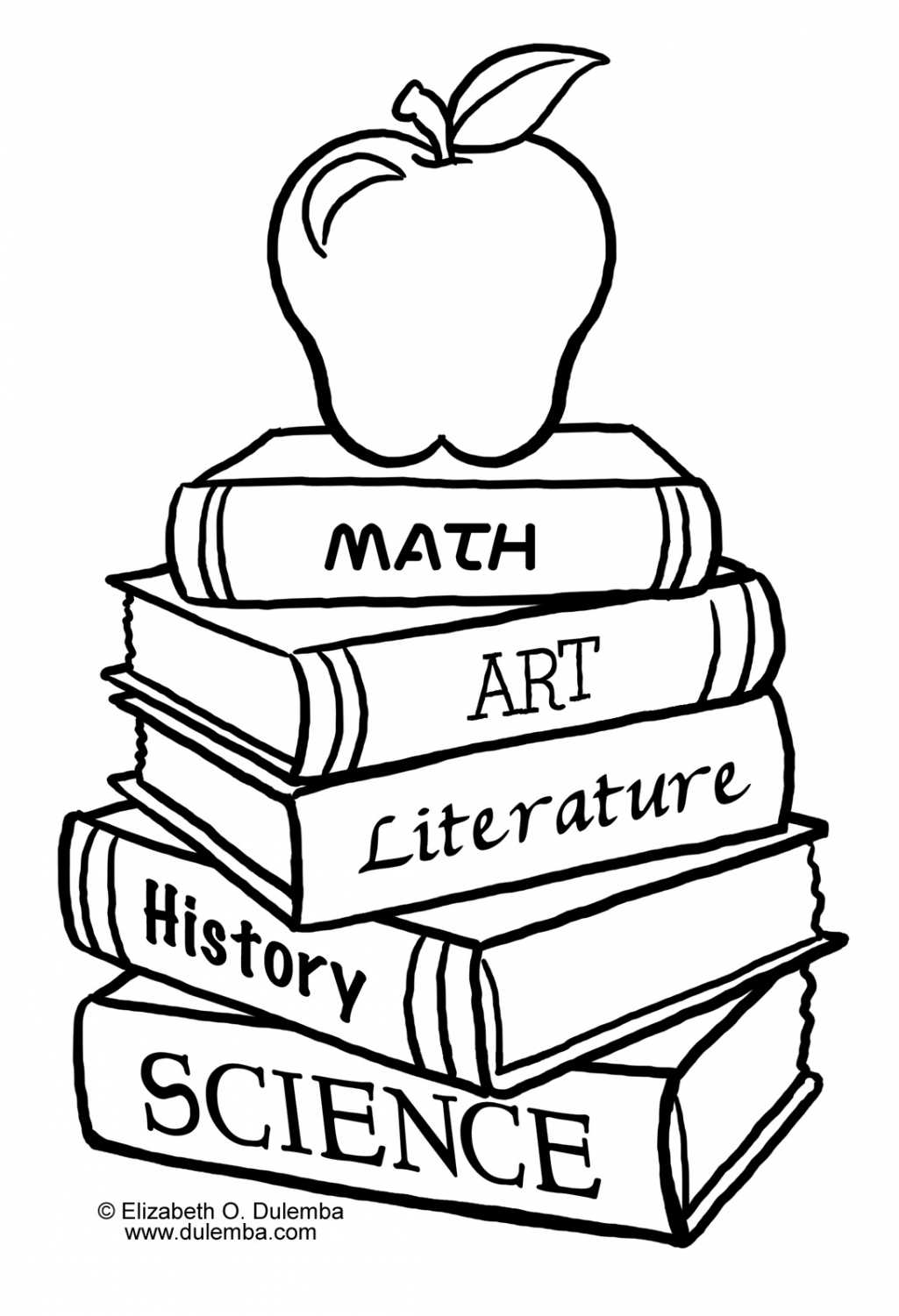 Back To School Clip Art Black And White