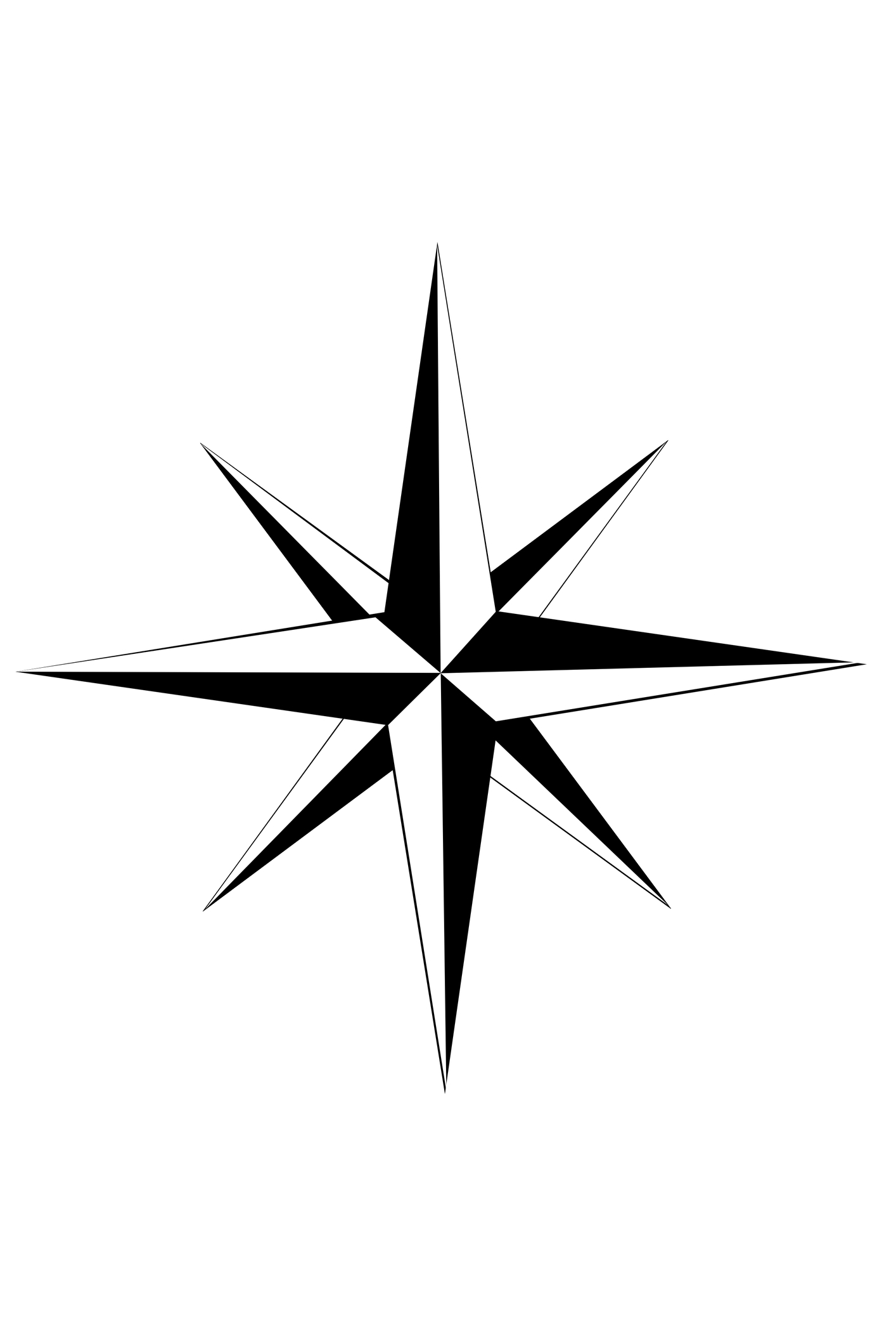 Blank Compass Rose