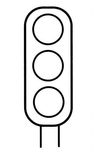 preschool stop light coloring page clipart best