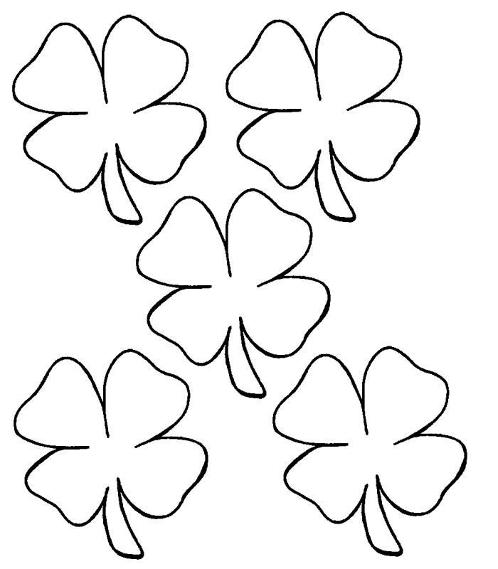 clover printable  clipart best