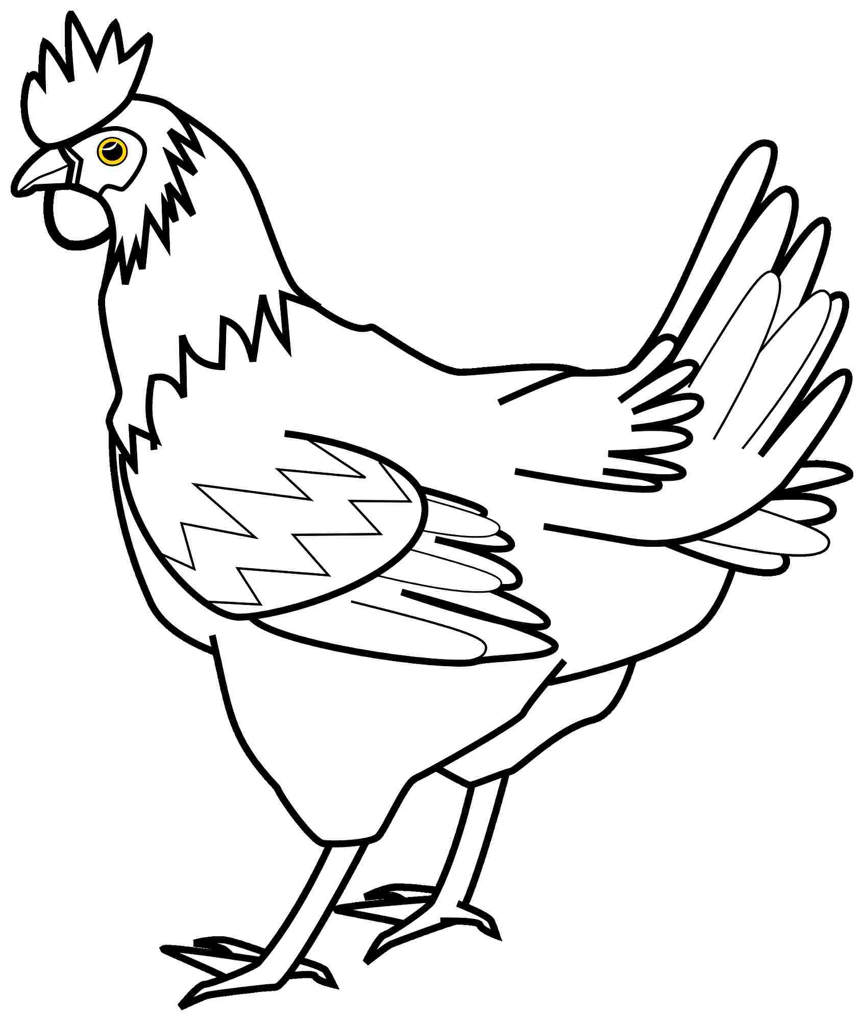 Drawing Of Hen