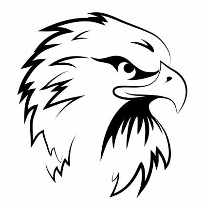 Gambar Logo Kepala Elang Hitam Putih Logo Elang Putih Clipart Best