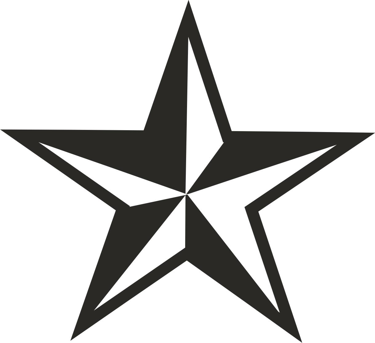 5 Point Star - ClipArt Best (1219 x 1117 Pixel)