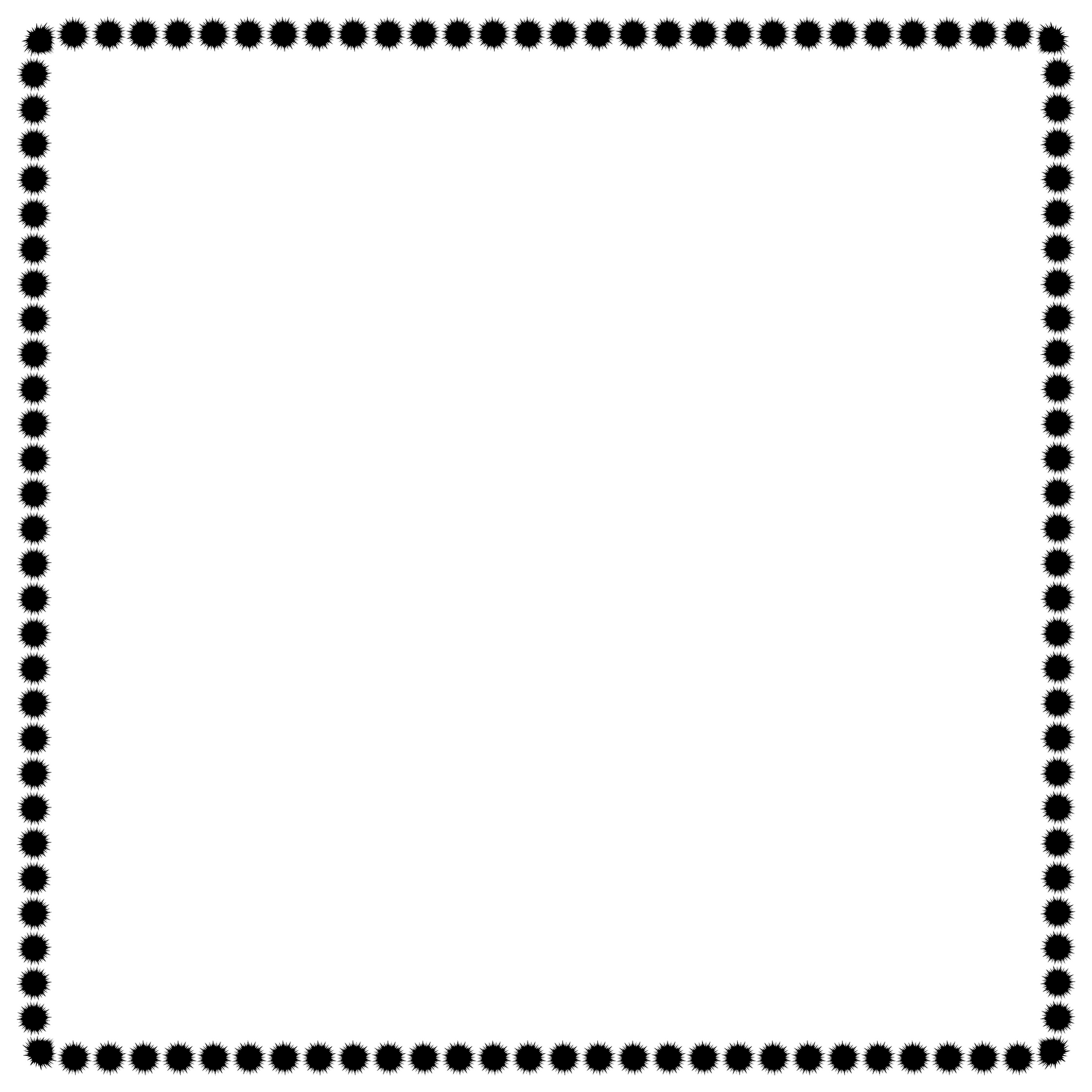 Black And White Polka Dot Page Border Clip Art