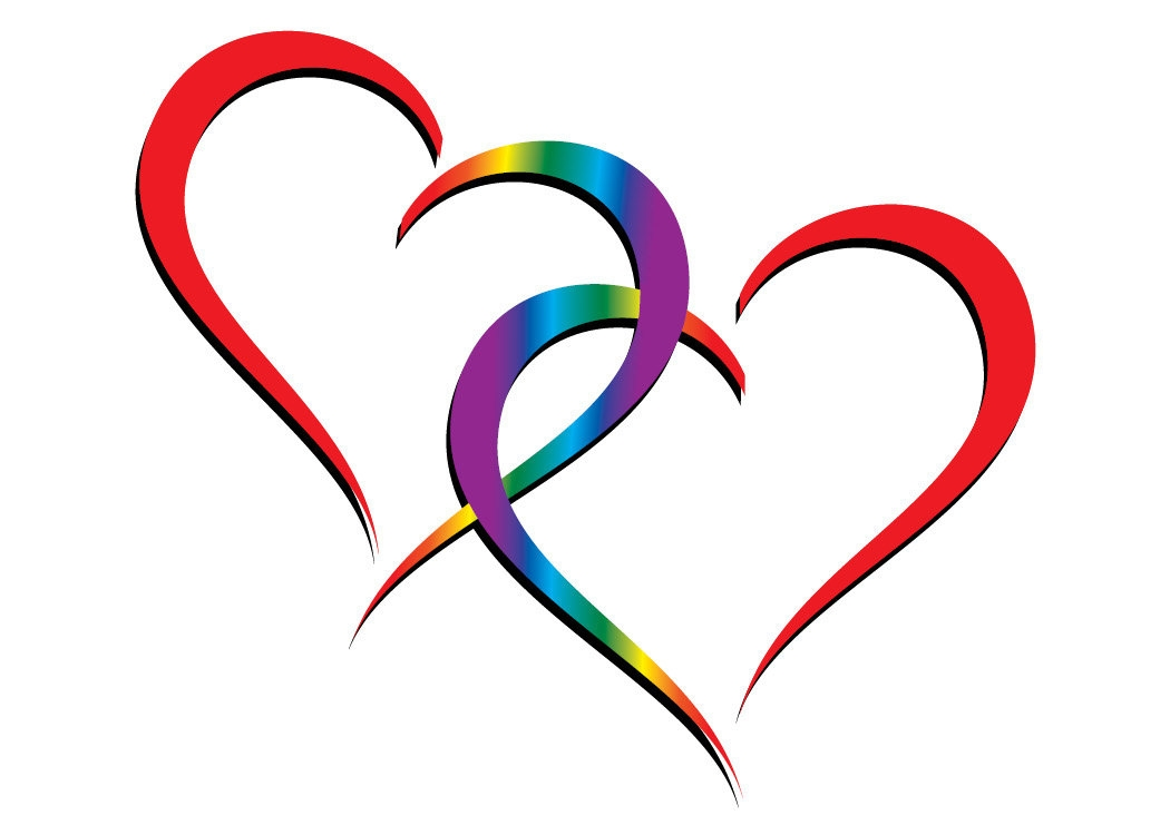 Clip Art Two Hearts Overlapping - ClipArt Best (1050 x 750 Pixel)