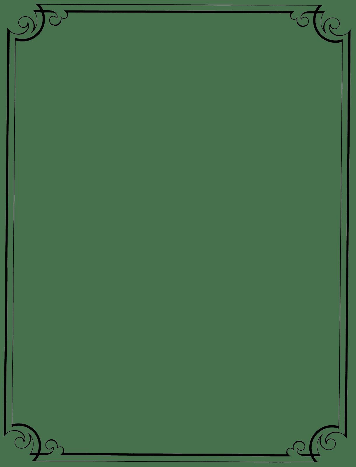 Resume Border Clipart