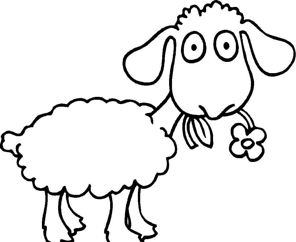 sheep coloring pages kids activities