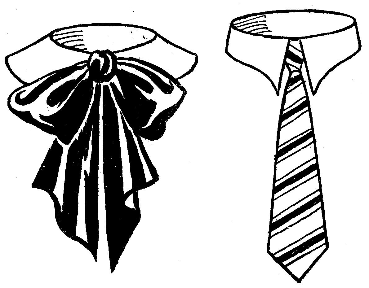 Black And White Neck Tie