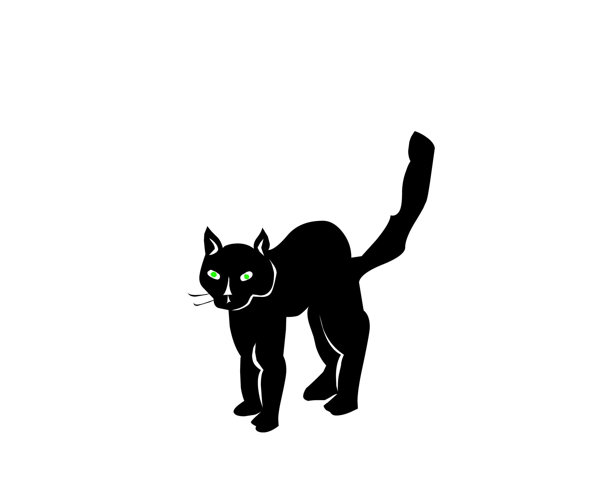 Black Cat Clip Art Free - ClipArt Best (1991 x 1674 Pixel)