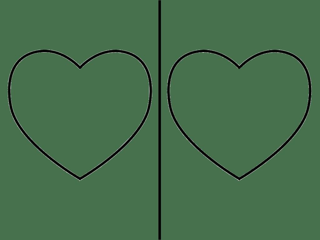 Heart Shaped Template