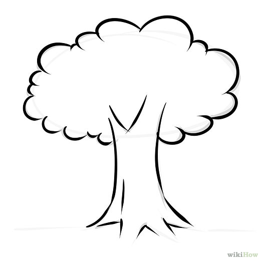kids tree trunk colouring pages
