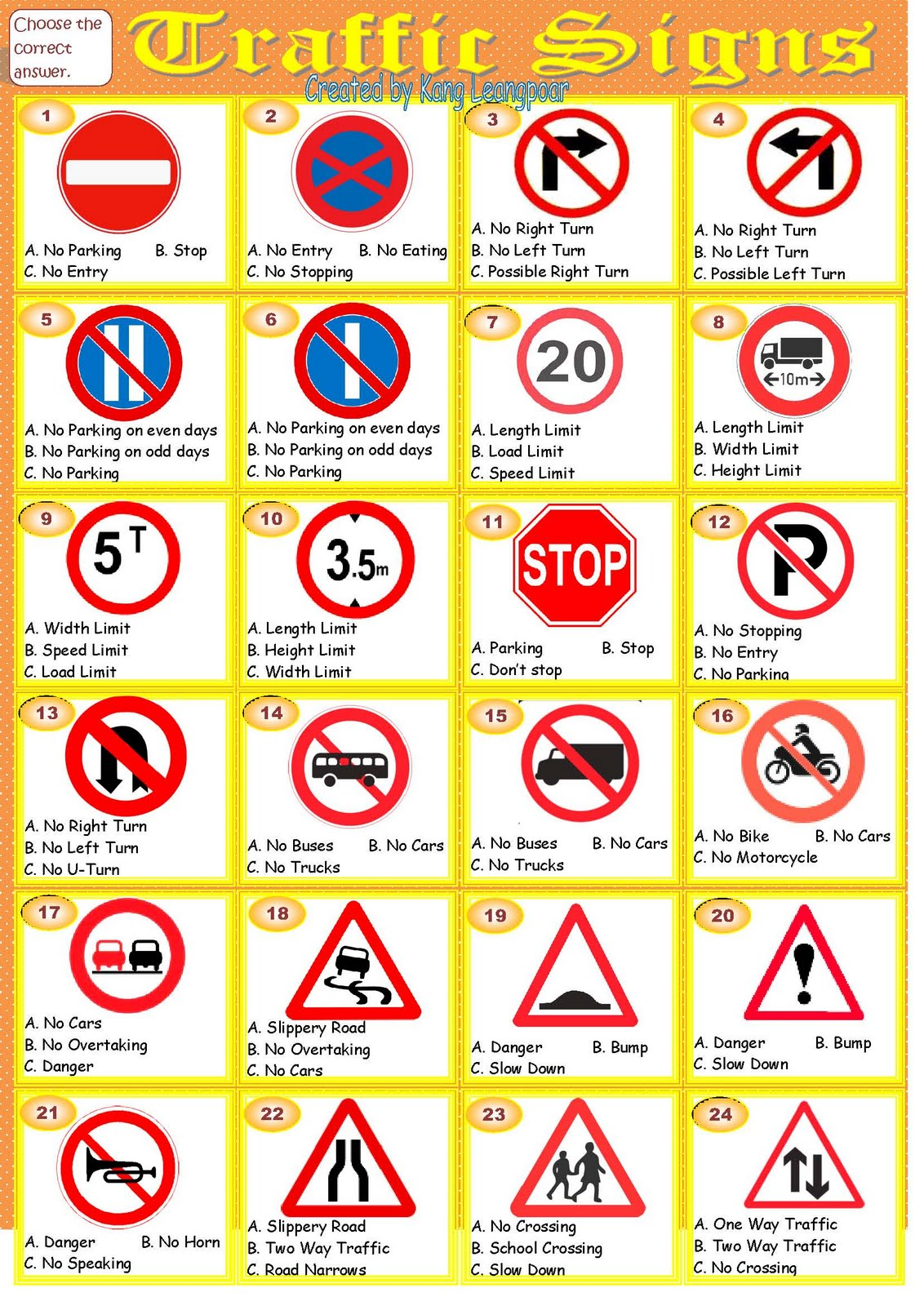 Traffic Signs Meanings The Wastetime Post
