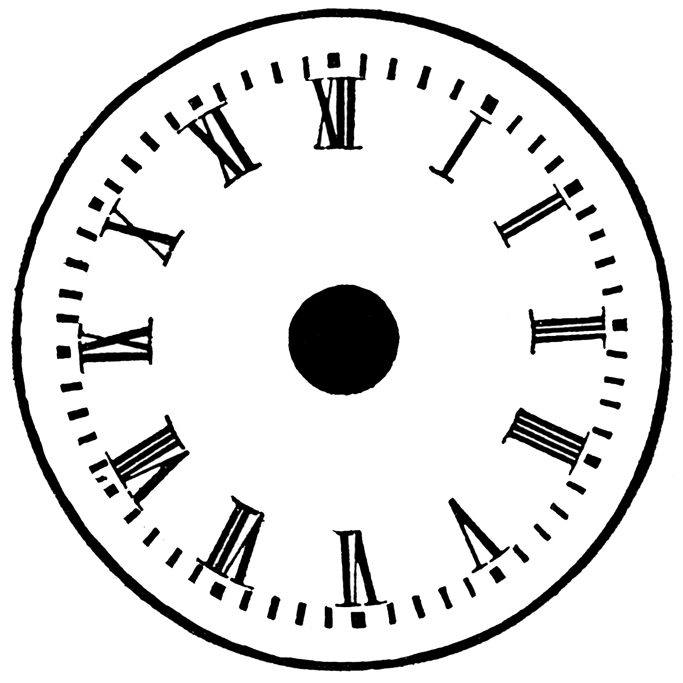 Printable Clock Face Withou Hands And Nubers
