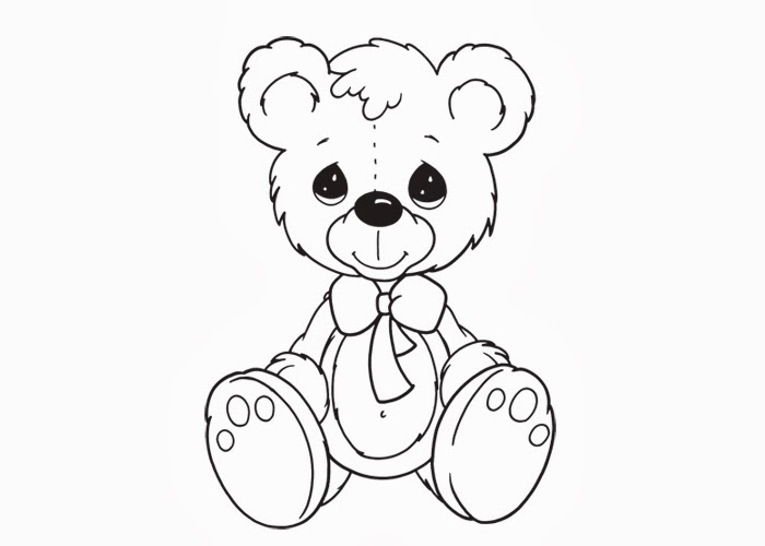 teddy bear colouring pages clipart best