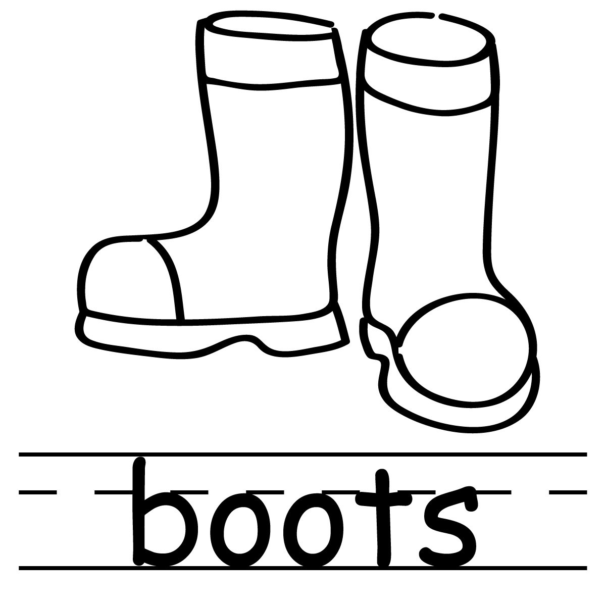 Boots Clipart Black And White
