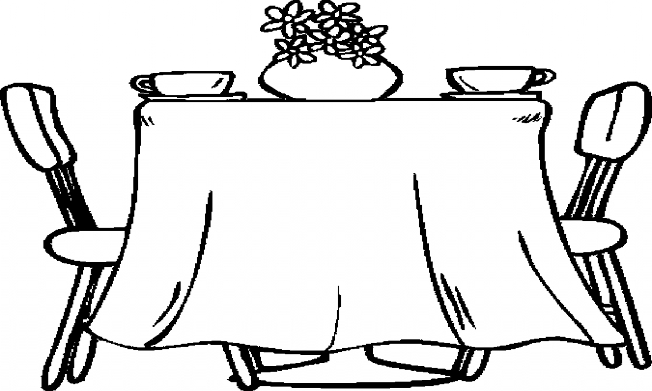 Black Dining Table Set Dining Room Table Coloring Page