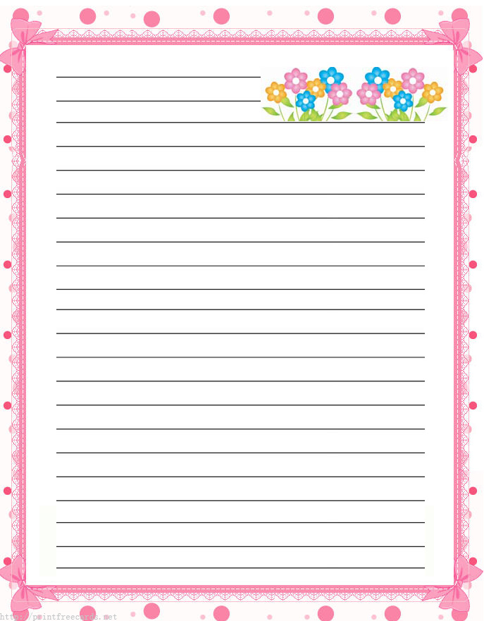 Lined Page Template. Printable Lined Paper Free Printable Lined