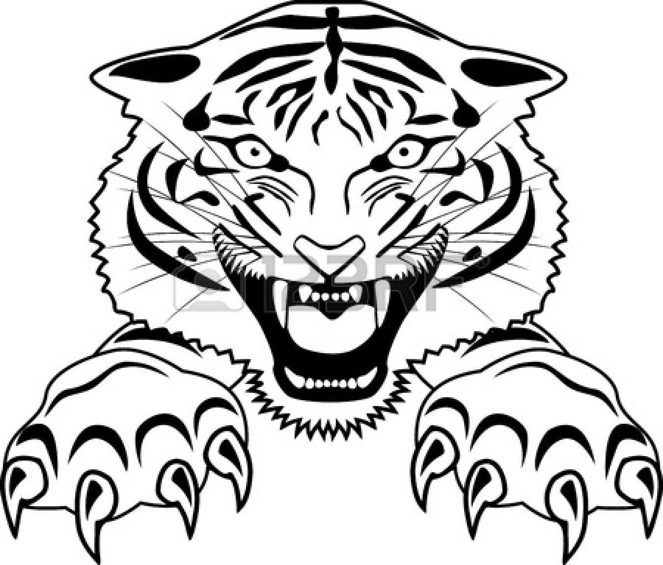 Jumping Tiger Tattoo