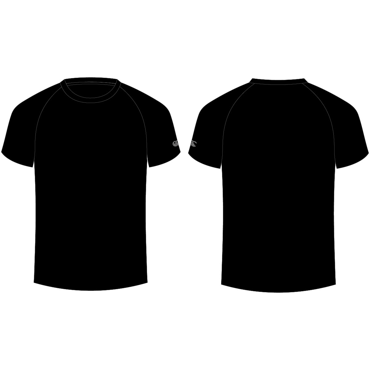 Blank black tee back the image kid has it for Back t shirt template
