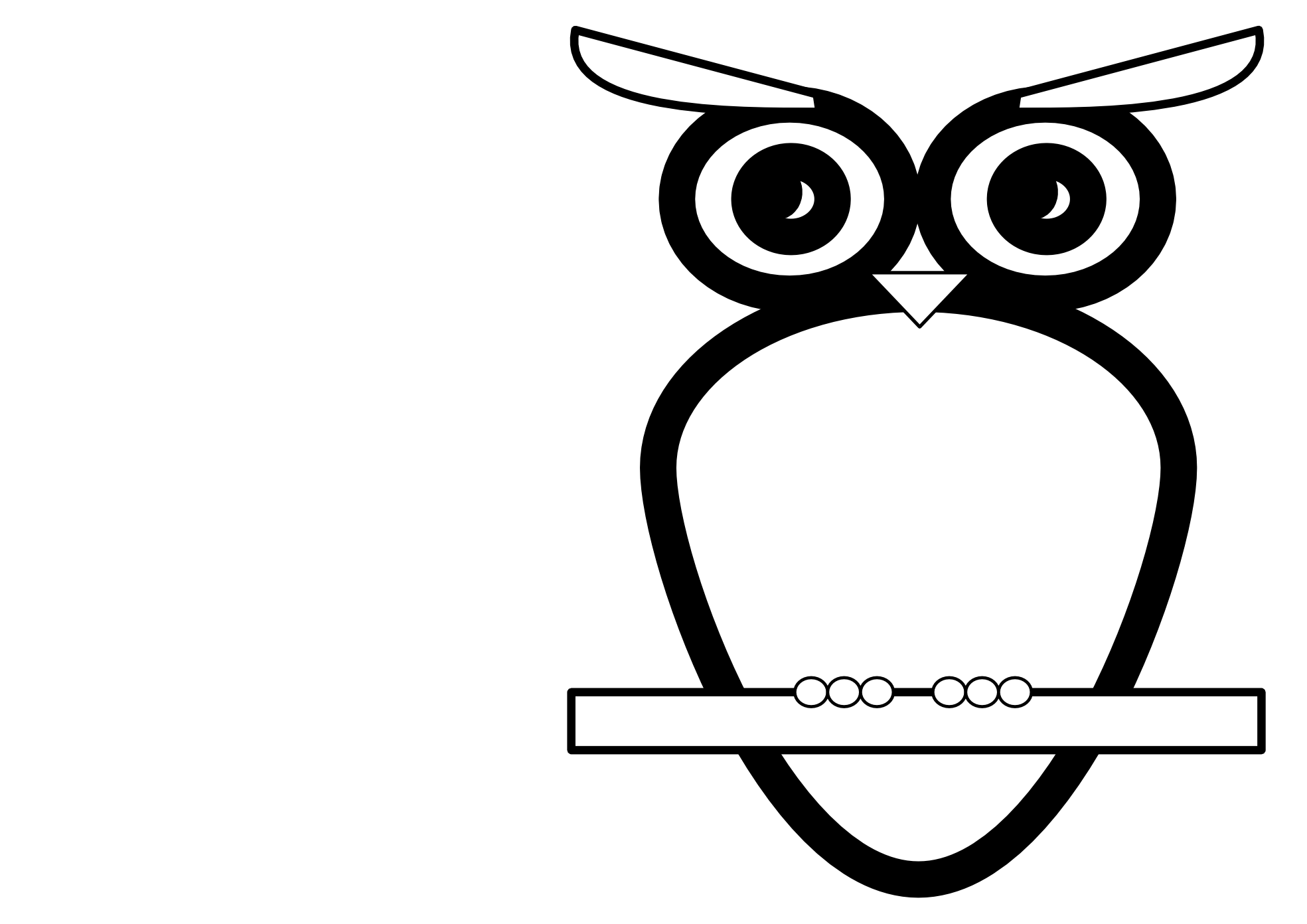Clipart Of An Owl