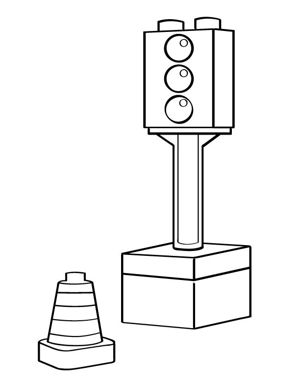 traffic light coloring page template traffic light coloring