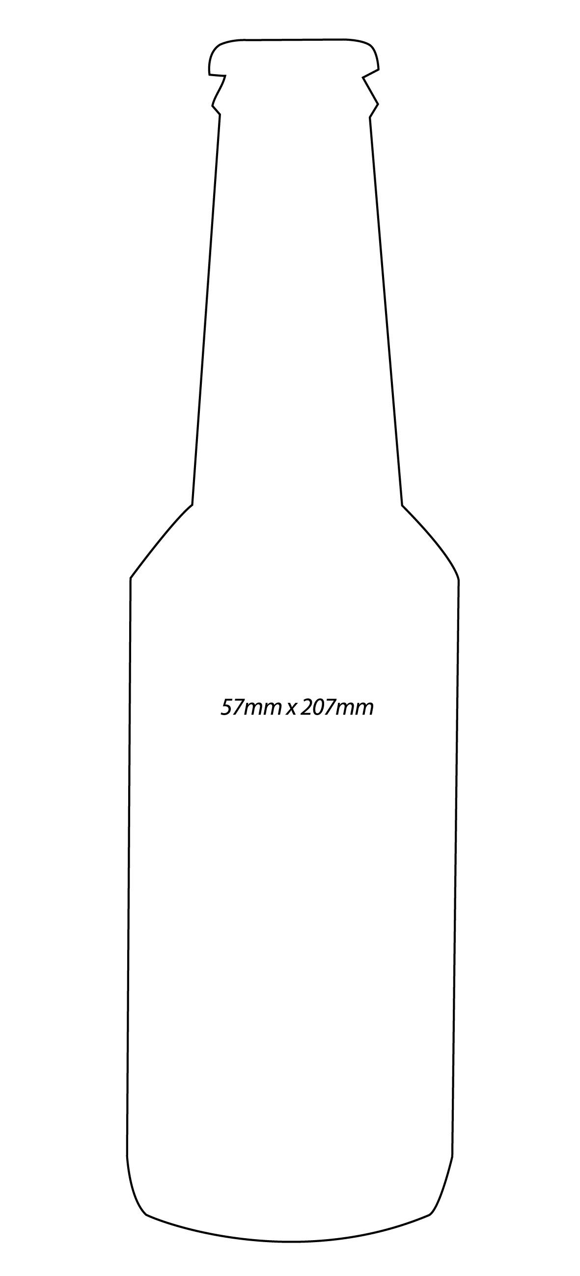 Bottle Outline Template