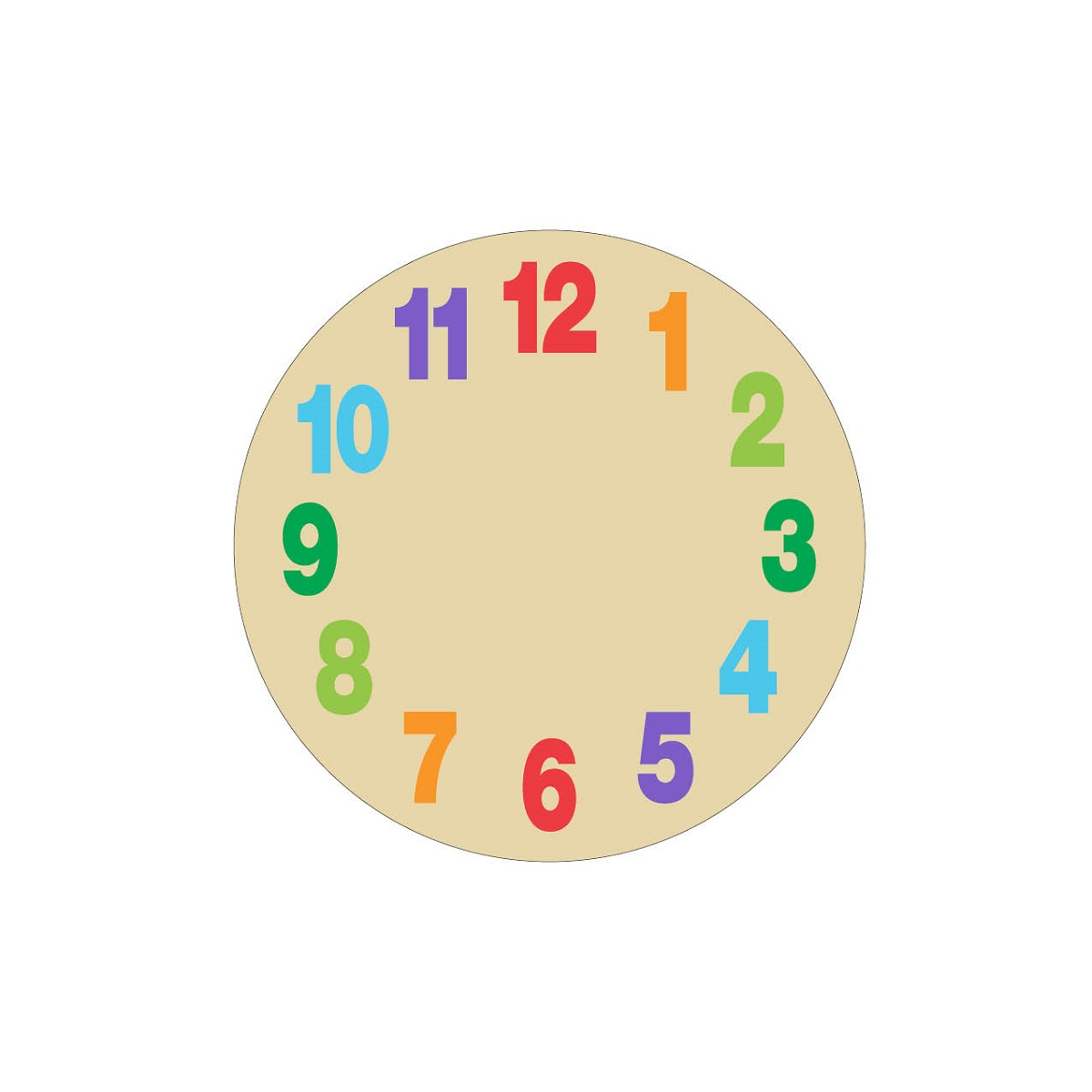 Clock Face For Kids