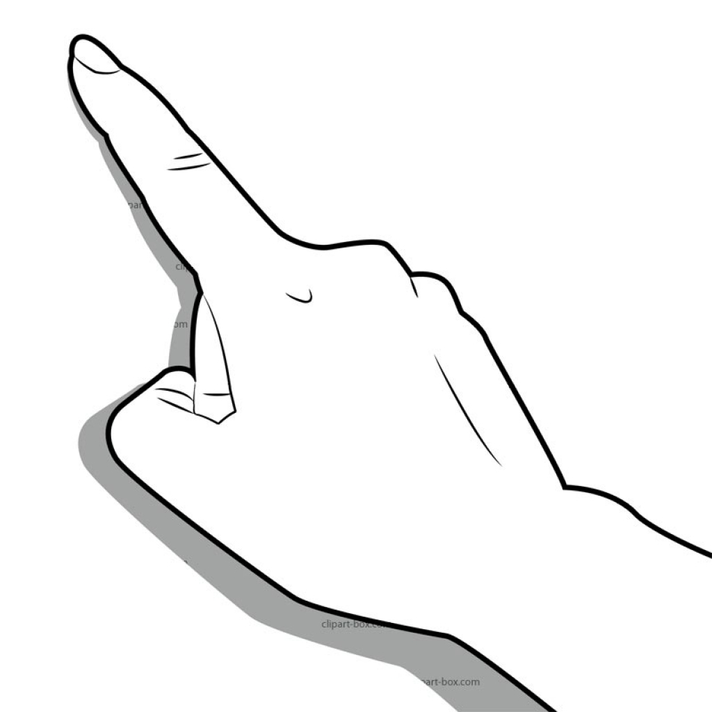 Finger Touch Clipart Finger Touch Clipart Man Pointing