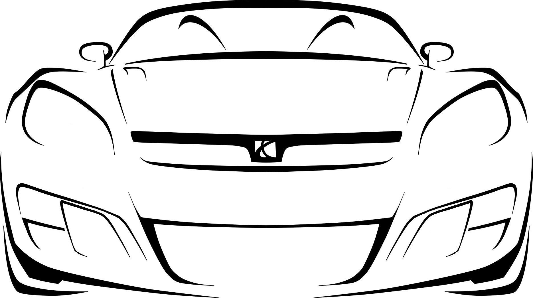 Race Cars Outline