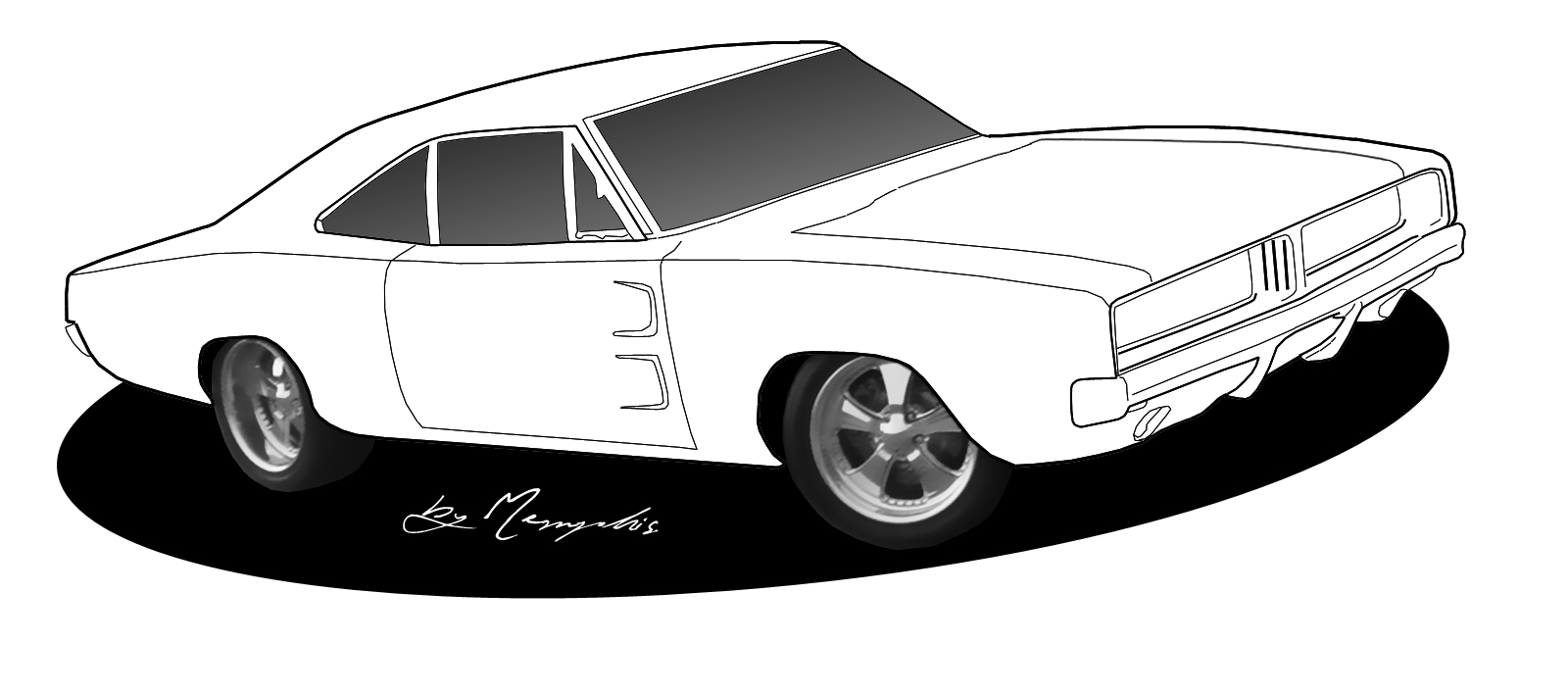 Cool Drawings Old Cars