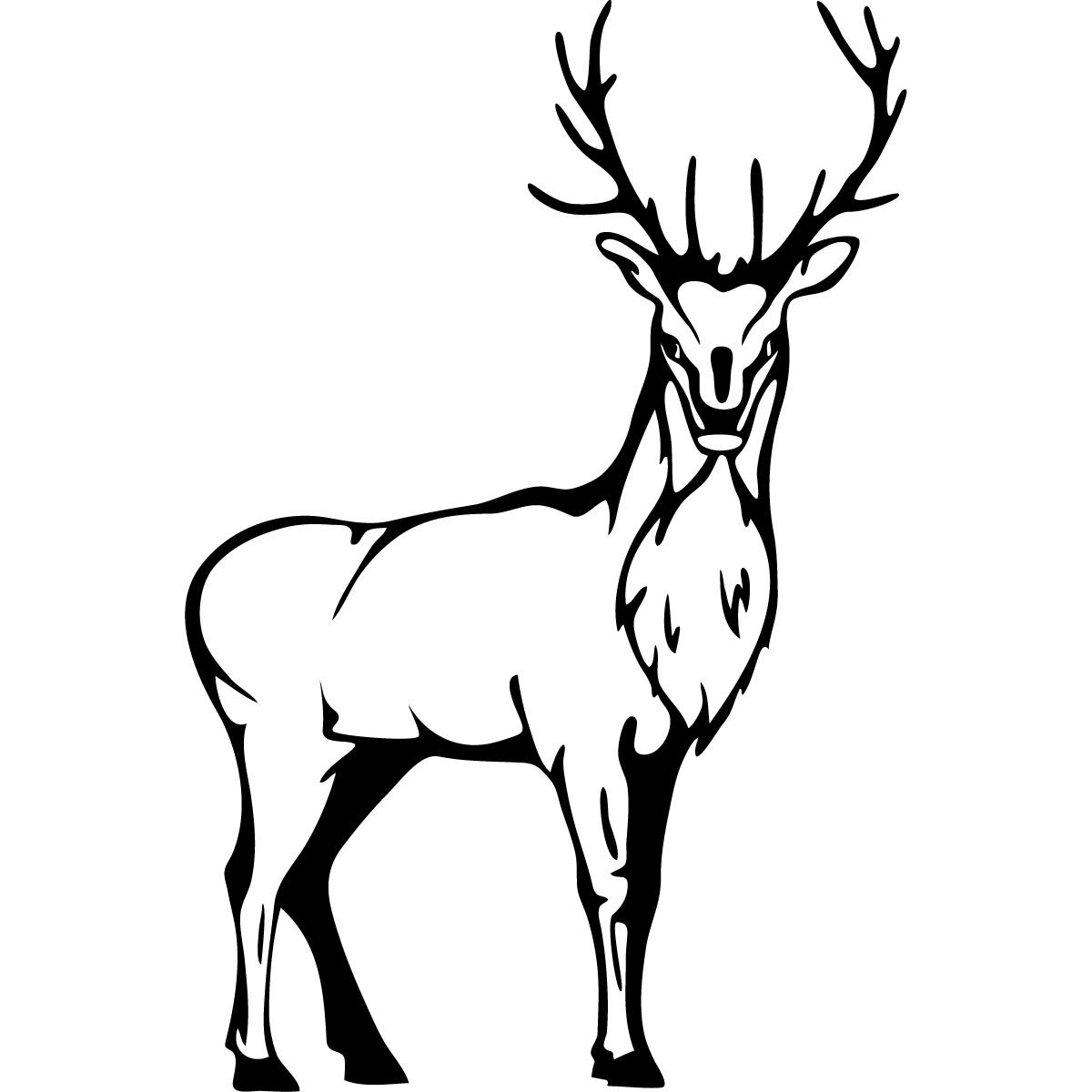 Line Drawing Of A Deer
