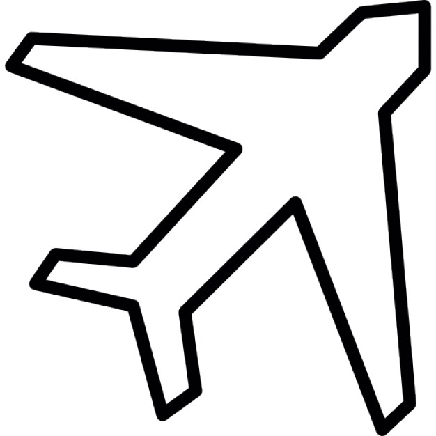 Airplane Outline Clipart