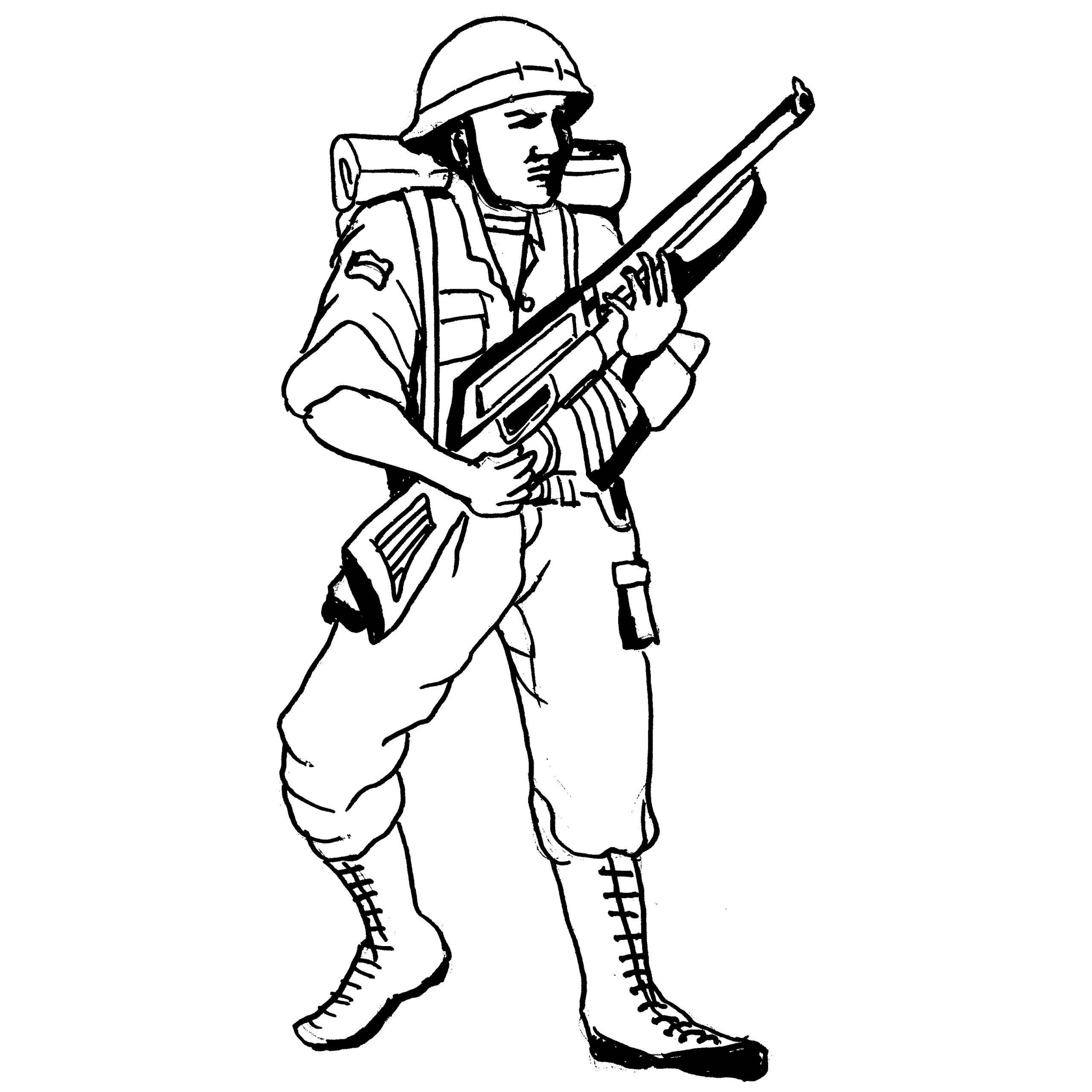 Machine Gun Coloring Pages
