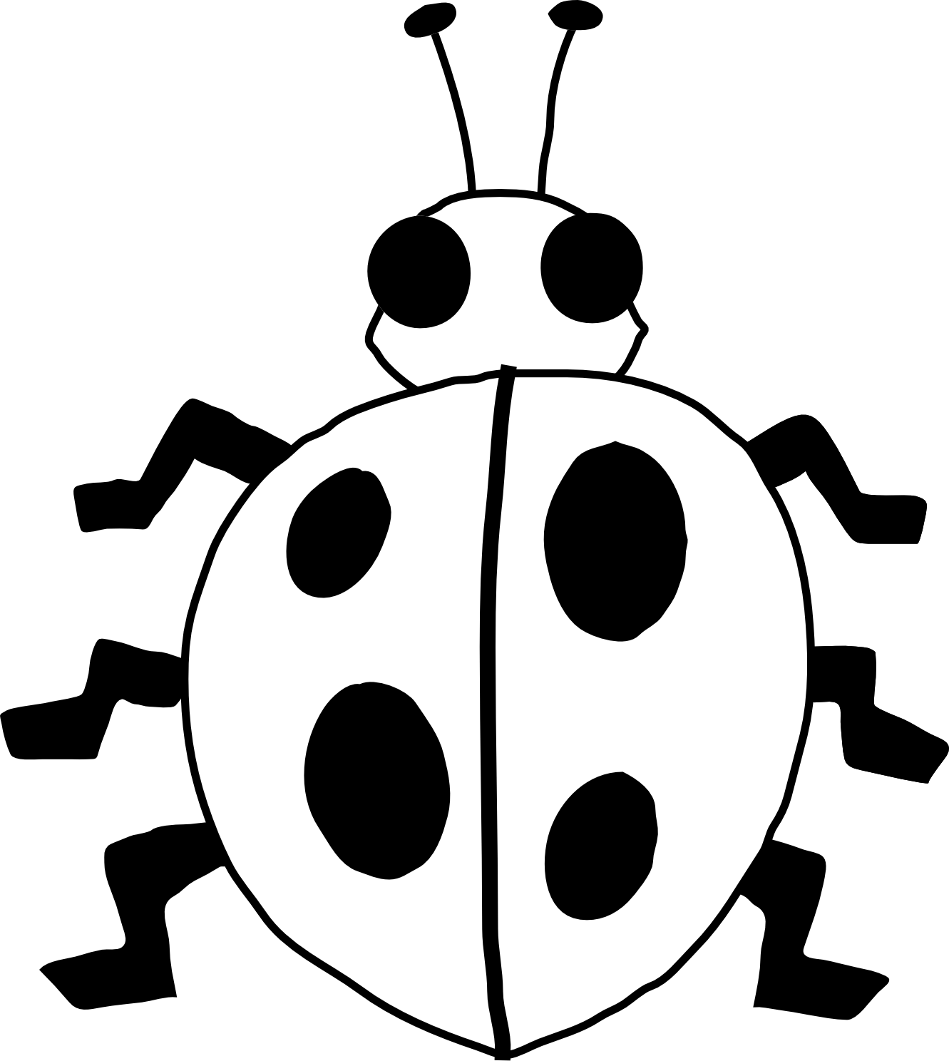 Flowers And Lady Bug Clipart