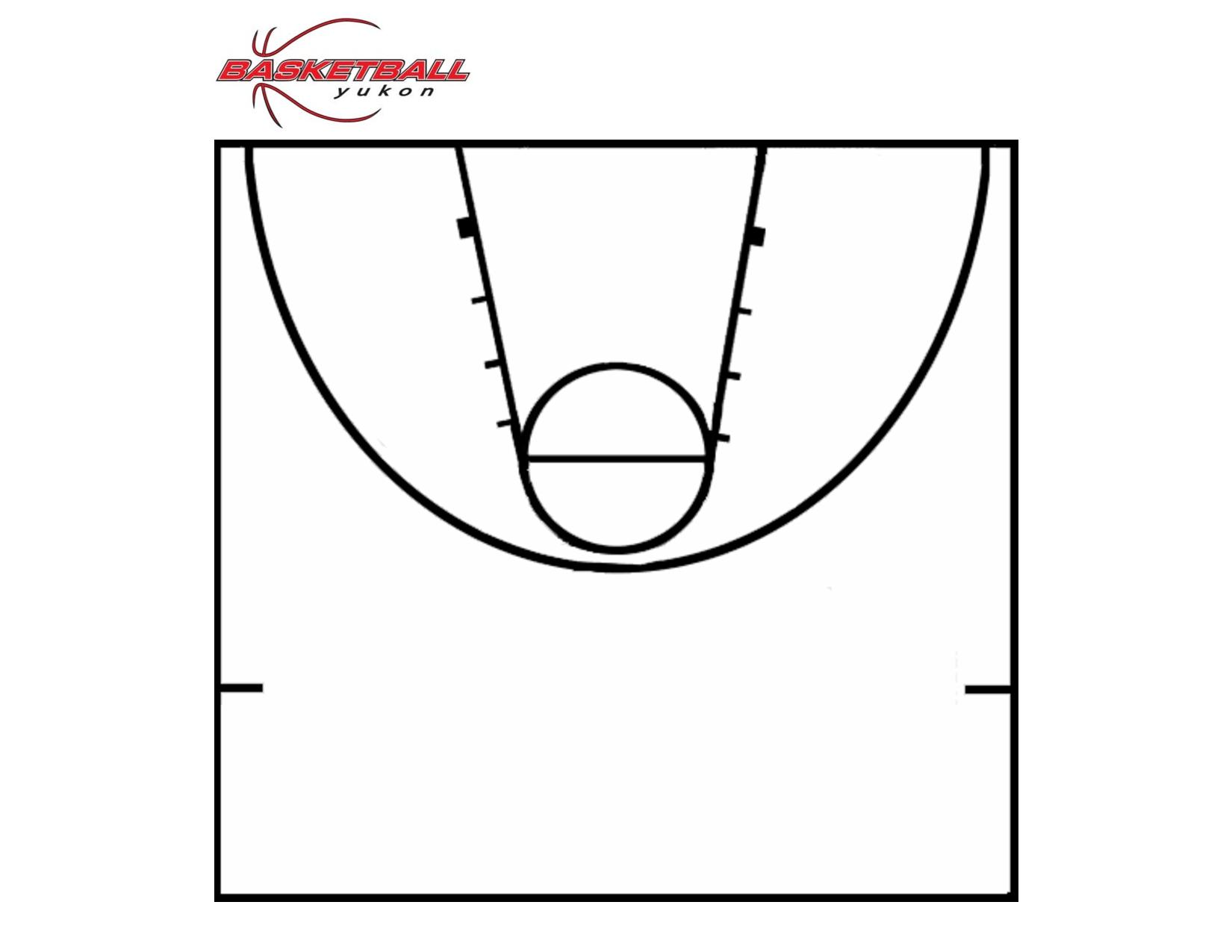 Printable Basketball Court