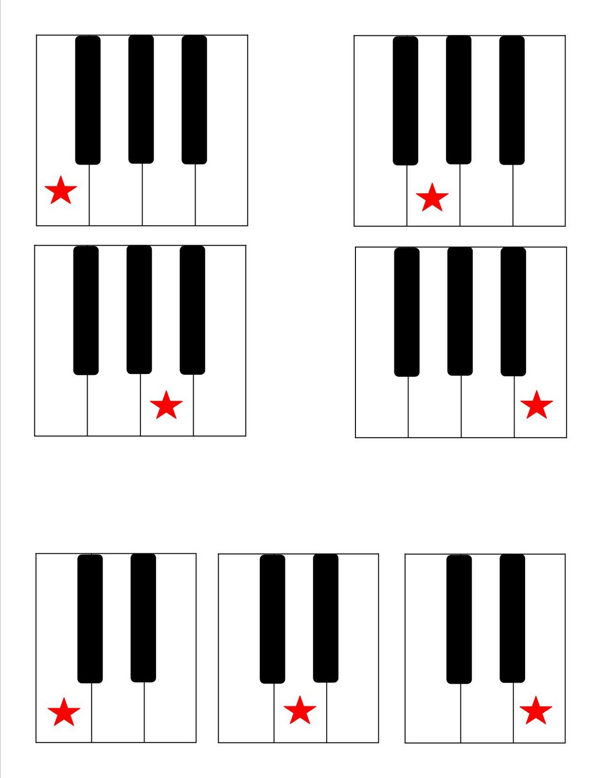 Blank Piano Keyboard Worksheet