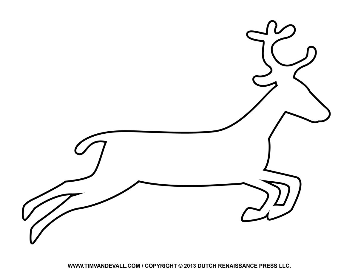 Free Reindeer Clipart Printable Coloring Pages For Kids